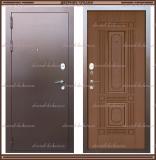 Входная дверь Максимус Дуб тёмный (имитация шпона) 90 мм Россия