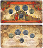 Набор разменных монет 2016 года в буклете с жетоном ММД