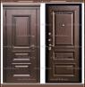 Входная дверь Глория Дуб шоколад / Дуб шоколад 100 мм Россия :