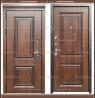 Входная дверь Виктория винорит NUSSBAUM Дуб патина чёрная 112 мм Росси