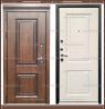 Входная дверь Виктория винорит NUSSBAUM Дуб Патина чёрная