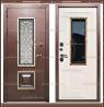 Входная дверь Диана 1,8 мм Сандал белый со стекло-пакетом
