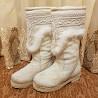 Продаю унты якутские из конского камуса белые на овчине