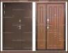 Входная дверь XL 2200 х 1100 Тёмный орех Россия
