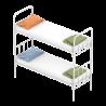 Кровати металлические одноярусные и двухъярусные с бесплатной доставко