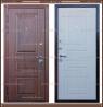 Входная дверь Мадрид Дуб тёмный / Белёный дуб 100 мм Россия :