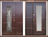 Входная дверь Джулия 1,8 мм Венге 2050 х 1100 со стекло-пакетом :