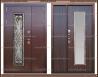 Входная дверь Джулия 1,8 мм Венге 2050 х 1200 со стекло-пакетом :