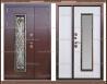 Входная дверь Джулия 1,8 мм Белёный дуб 2050 х 1200 со стекло-пакетом