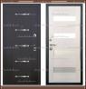 Входная дверь Муар -1 Чёрный муар / Лиственница беленая 100 мм Россия