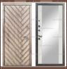 Входная дверь Канада Зеркало Дуб серый / Белый софт 100 мм Россия