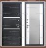 Входная дверь Оникс Зеркало Чёрный кварц / Белый матовый 106 мм Россия